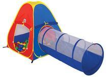 Toca infantil com 60 bolinhas e túnel 2 em 1 - braskit -