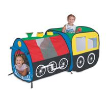 Toca Locomotiva Trem com 100 Bolinhas Coloridas - Braskit -