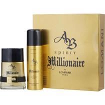 Toilette Spray Masculino Ab Spirit Millionaire Lomani Eau 100 Ml + Desodorante Spray 195 Ml -