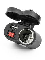 Tomada 12v E Usb 5v Para Moto Carregador De Celular Gps A Prova D'gua Motocicleta - JK