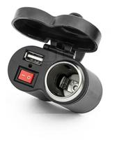 Tomada Para Moto Usb 12v Carrega Celular/gps + Acendedo - Dgs