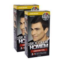 Tonalizante Biocolor Homem Louro Escuro 60 ml Kit C/2 -