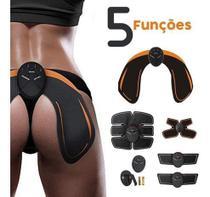 Tonificador Muscular Abdominal 5 Em 1 Pernas Bumbum Barriga Eletromuscular Fitness Malhar Em Casa -