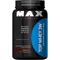 Top whey 3w (900g) chocolate - max titanium