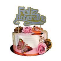 Topper cake glitter diversos - Tos festas