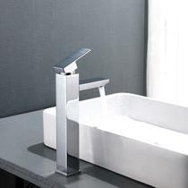 Torneira banheiro quadrada monocomando misturador alta - M&A Store