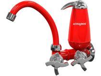 Torneira com Filtro para Cozinha Acquabios - de Parede Color Acqua E05 Vermelha -