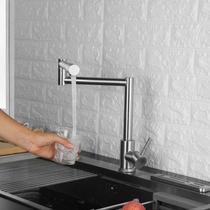 Torneira Goumet Articulavel Monocomando Aço Inox Escovado Cozinha Bancada - Ab Midia