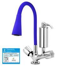 Torneira Gourmet Cozinha Filtro Cone 2 Jatos Azul C50 - Tfc