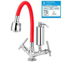 Torneira Gourmet Vermelha Filtro Slim Cozinha Mesa C61 - Tfc