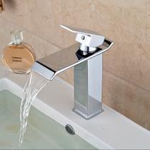 Torneira Quadrada Cascata Banheiro Misturador Monocomando - Italian