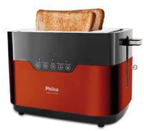 Torradeira de pães 850 watts Touch Inox Red - PTR03 110V - Philco