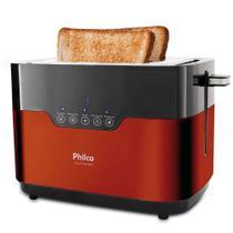 Torradeira de pães 850 watts Touch Inox Red - PTR03 - Philco -