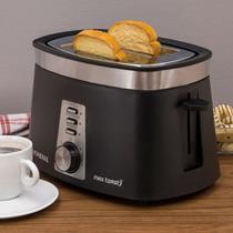 Torradeira Elétrica Mondial Max Toast T-04 Preta / Prata -