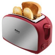 Torradeira French Toast Inox Vermelha - Philco Única -