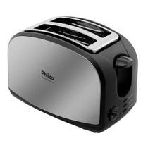Torradeira French Toast Philco com 8 Níveis de Tostagem - Inox/Preto - 110V -