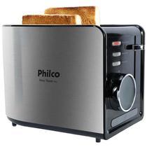 Torradeira Philco Easy Toast Ptr2  Aço Escovado/Preto - 220V -