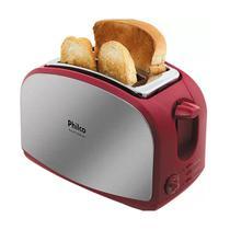 Torradeira Philco French Toast Inox Vermelha - 0562 -