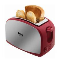 Tostador Philco French Toast com Função Descongelar 8 Níveis de Tostagem Vermelho e Inox -