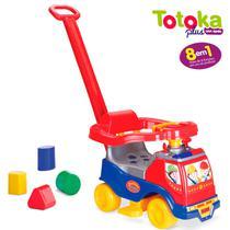 Totoka Plus Menino Triciclo Infantil Bebe C/ Empurrador Sons - Cardoso