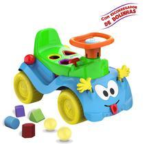 Totokinha Bolinha Azul com buzina, chave e peças geométricas - Cardoso Toys