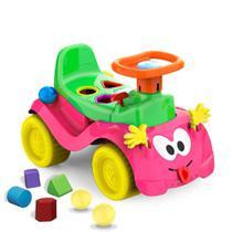 Totokinha Bolinha Carrinho Rosa Menina 6005 - Cardoso Toys -