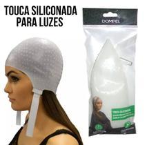 Touca Silicone Branca Tratamento Cabelo Mechas Profissional Barbearia Dompel -