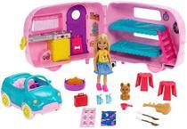 Trailer Carro E Boneca Barbie Clube Chelsea Loira Pets 2019 - Mattel