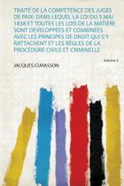 Traité De La Compétence Des Juges De Paix - Hard Press