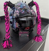 Trancinhas de capacete - Mulheres Moto Lovers