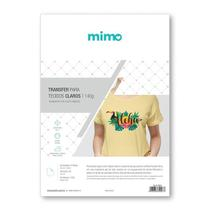 Transfer Imprimivel Tecidos Claros - Mimo - A4 - 5 Folhas -