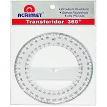 Transferidor 360º Acrimet - Cristal -