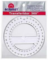 Transferidor em poliestireno 360º cristal 552.0 Acrimet -