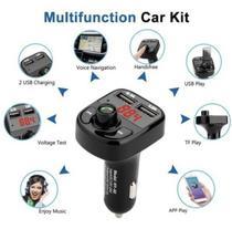 Transmissor Bluetooth Fm Auto Hands-free Charger 2 Usb X8 - Terra Garoa