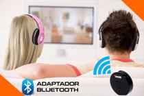 Transmissor Bluetooth V.4.0 p2 Tv- Pc- MP3 - DVD - Para 2 Fones Tomate