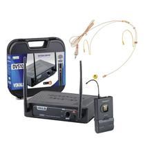 Transmissor Com Microfone Headset Plug P2 Com Rosca - Vokal