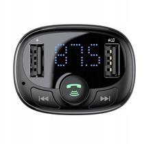 Transmissor FM Baseus - Bluetooth Pen Drive Cartão SD Carregador 2 Saída Usb 12v -