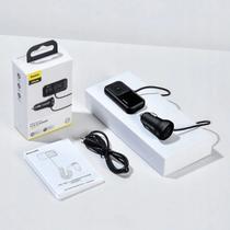 Transmissor FM Mp3/wma/wav Bluetooth Carregador Dual USB + Micro sd Typed S-16 - Baseus
