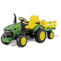Trator Elétrico John Deere Ground Force 12volts - Peg-Pérego - Peg Perego -