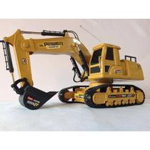 Trator Escavadeira R/C 8 Ch Mod 6811L + Pilhas - XALINGO