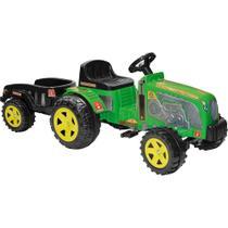 Trator Fazendeiro com Caçamba Verde Pedal Biemme -