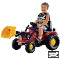 Trator Infantil Pedal Farmer Com Pa Vermelho - Biemme -