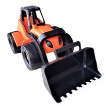 Trator maquina carregadeira orange contrutor  510 - Toys