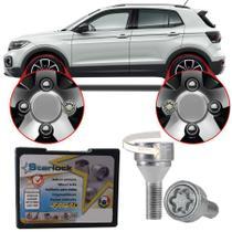 Trava Antifurto Anti Roubo de Roda Parafuso Porca Farad Starlock Volkswagen T-Cross TCross 2019 20 Com Mais de 10.000 Segredos ZA/E -