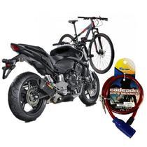 Trava Cadeado Moto Bicicleta Universal Antifurto - Western