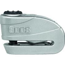 Trava de disco c/ alarme abus granit detecto 8008 prata -