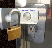 Trava Segurança Uso Cadeado Porta Vidro Temperado 1 Folha - Correr - Pivotante - canto - alvenaria - Maopy