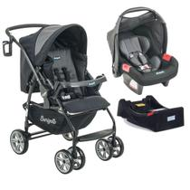 Travel System AT6 K Burigotto + Touring Evolution PRETO/CINZA + Base