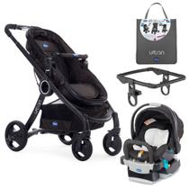 Travel System com Adaptador - Urban Plus Keyfit Night e Color Pack Plus - Anthracite - Chicco