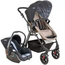 Travel System Galaxy - Preto e Capuccino - Kiddo